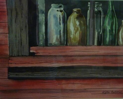 Window Art watercolor Kathi Butorac