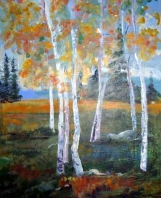 Birch Meadow by Sherry Pepke