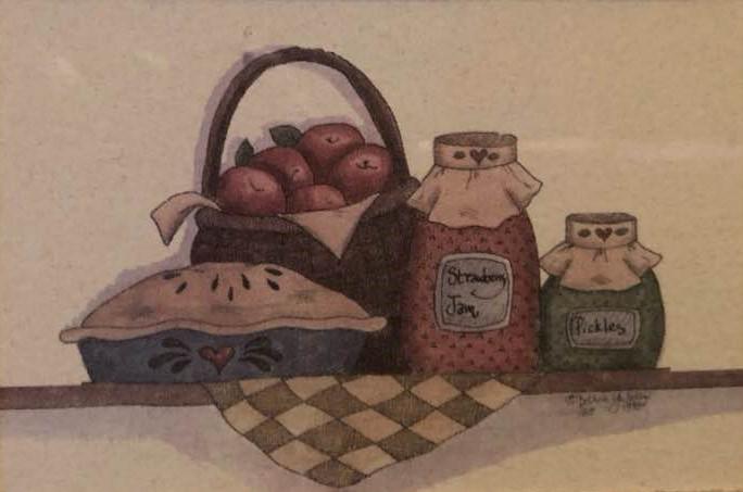 Harvest Rewards Miniature by Bonnie Hawk