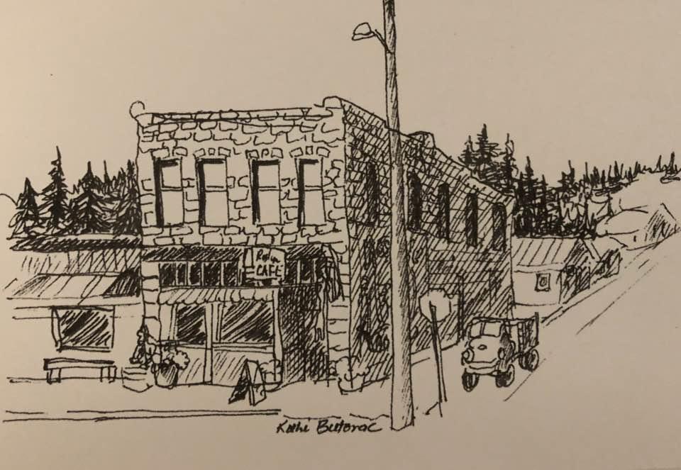 Roslyn Cafe by Kathi Butorac